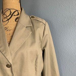 twiggy LONDON Khaki Military Style Blazer 1X